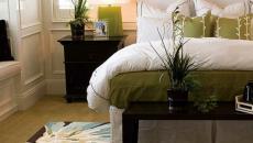 chambre à coucher design thème florale