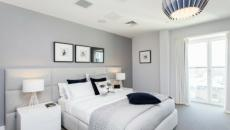 chambre ameublement gris et blanc