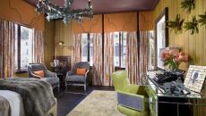 ameublement couleurs design éclectique chambre à coucher