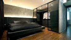 design minimaliste chambre à coucher masculine homme