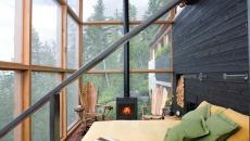 veranda moderne vitrée devenue chambre avec vue