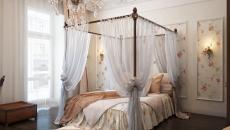 Chambre à coucher déco romantique femme ambiance