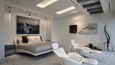 chambre suite design masculin meubles
