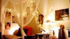 décoration de Noël dans la chambre à coucher