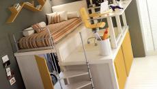 chambre d'ado meuble en hauteur design décorée