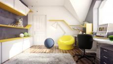 décoration chambre enfant jaune blanc design