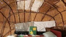 Chambre d'hôtel à l'inspiration africaine