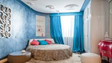 Décoration intérieure chambre au lit rond