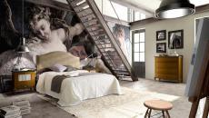 grande chambre spacieuse déco artistique
