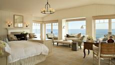 élégante chambre avec belle vue mer