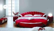 chambre design déco femme romantique lit rond