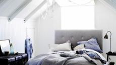 ambiance sobre en blanc chambre sous toit
