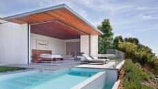 maison d'architecte avec ouverture et piscine