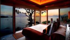 belle chambre avec piscine et vue splendide
