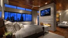 ambiance chaleureuse cheminée dans la chambre
