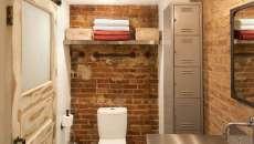 toilettes déco originale industrielle casiers métalliques
