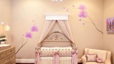 déco luxe dorée chambre de bébé lit