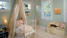 rustique traditionnelle chambre déco design bébé lit à baldaquin