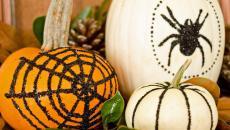orange et blanc les couleurs halloween sur citrouilles