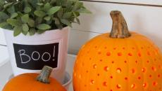faire une lanterne citrouille pour décorer la maison halloween