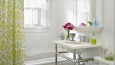 vert citron salle de bains sympa