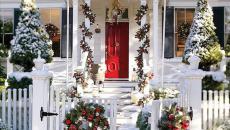 déco Noël porte d'entrée maison inspirations