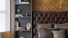 design sombre traditionnel chambre à coucher masculine