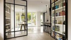 solution esthétiques intérieur porte vitrée