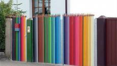 palissade crayons multicolores