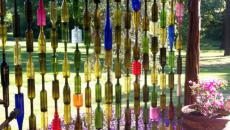 clôture originale créative bouteilles