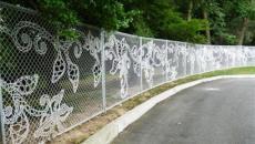 élégante clôture en fils métalliques