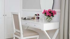 meuble de coiffeuse simple blanc