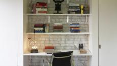 bureau loft design aux étagères