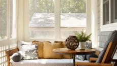 veranda moderne et ensoleillé maison de vacances