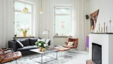 séjour blanc design intérieur déco scandinave
