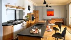 Comptoir de granit pour une jolie cuisine moderne