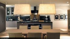 ambiance sobre cuisine design salle à manger luxe