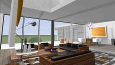 logiciel CAO 3D visualisation intérieur salon maison