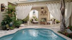 espace autour de la piscine de rêve