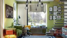 chambre ado sympa en vert déco