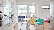 ambiance simple appartement salle à manger meubles