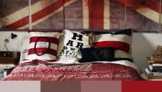 chambre à coucher moderne couleurs thème rouge
