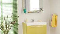 couleurs fraiches salle de bain moderne design