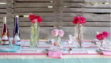 arrangement floral table pour invités