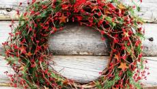 couronne rustique décoration spécial Noël