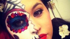 Maquillage art femme visage Halloween