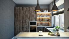 belle cuisine petite appartement de ville
