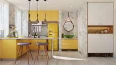 une cuisine en forme de L gagne place petit appartement