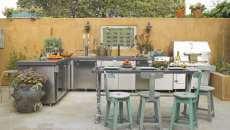 projet créatif cuisine extérieure rustique maison de campagne