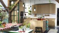 belle cuisine extérieure intérieure maison pratique